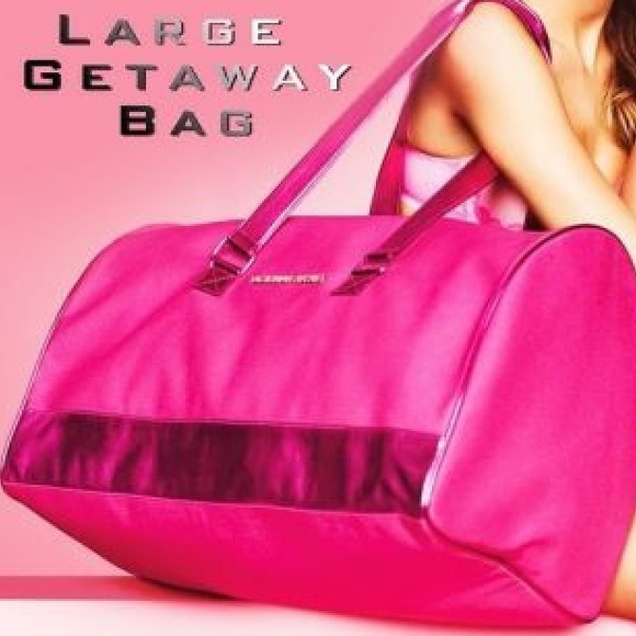 bf3c33ea5000 Victoria's Secret Bags | Keeping Vs Large Pink Weekender Duffle Bag ...