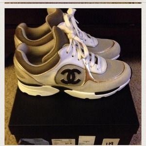57cb8ce39ccac CHANEL Shoes - SOLD on EBay Brand New 2013 Chanel Tennis Sneakers