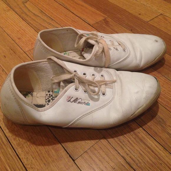 White Keds Lookalike Sneakers Worn