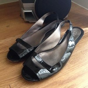 Cole Haan Patent Leather Slingback Flats