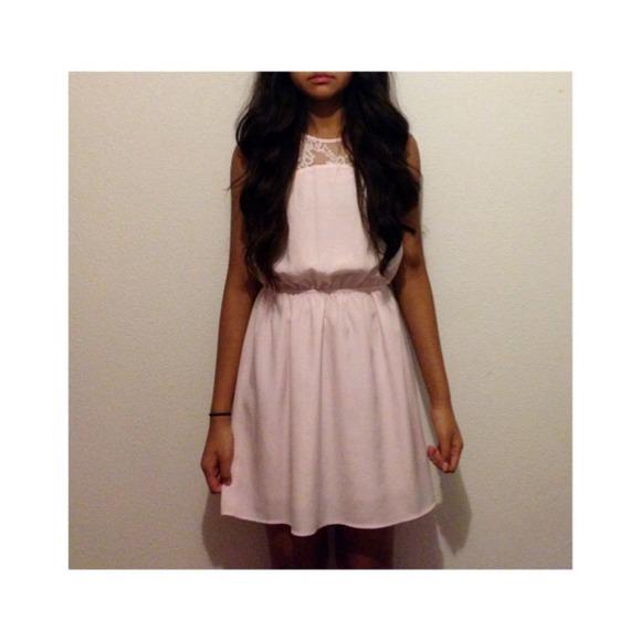 H&m Light Peach Lace Dress