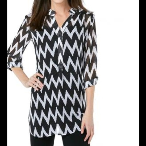2fe75b25f29 Tops | Size 16 Blackwhite Chevron Tunic Top | Poshmark
