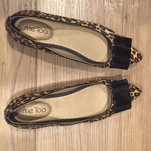 Leopard Bow Flats - 'Patty' by Me Too