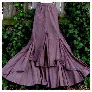 Vintage Free People Purple Hi-Low Skirt - Wowza!
