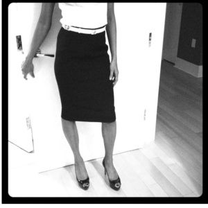 Dolce & Gabbana Black Pencil Skirt