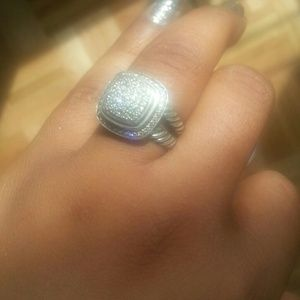 David yurman signature albion  diamond ring size 6