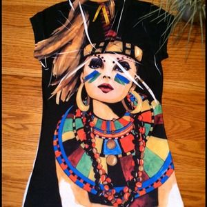 Zara Tops - Zara Tribal girl T-shirt