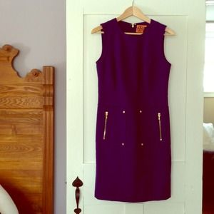 Tory burch purple dress