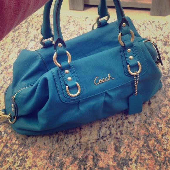 bed2af913b ... ireland coach ashley turquoise purse 2cd7c 31f6b