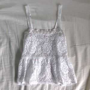 Abercrombie & Fitch Tops - A&F lace tank top