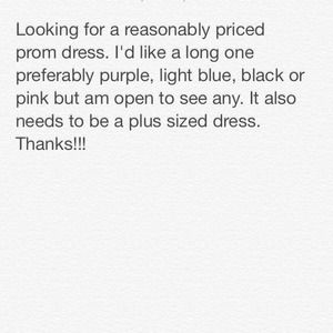 Searching for a Plus size prom dress!