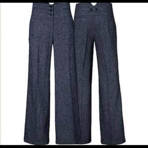 H M Pants High Waisted Wide Leg Dress Gray Poshmark