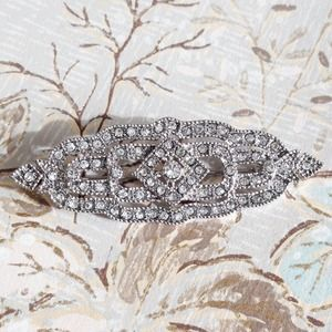 Art Deco Inspired Crystal Brooch Pin