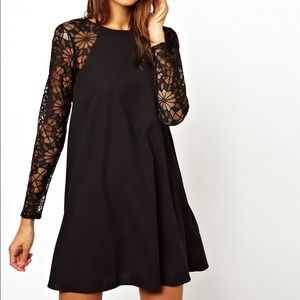 ASOS Dresses & Skirts - ASOS swing dress with lace sleeves