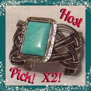 Host Pick! X2  Turquoise Cuff Bracelet