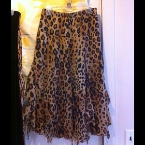 Fashion Bug Leopard Print Maxi Skirt