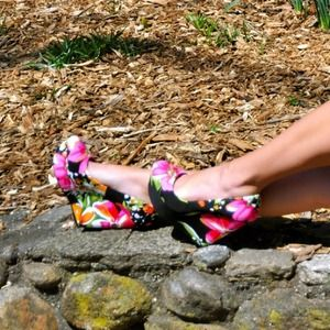Aldo Floral Wedge Pumps