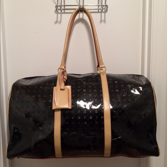 54d7abaccc89 Arcadia Handbags - Arcadia Black Patent Leather Travel Carry On Bag
