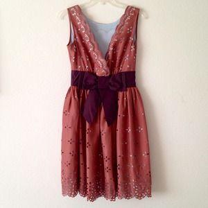 ❤ Silk Dress with Floral Stencil Pattern size 4