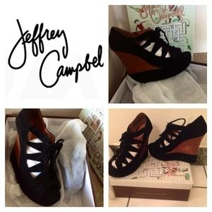Jeffrey Campbell Shoes - 🎉Jeffrey Campbell 🎉 NEW Harlow Lace up Wedges