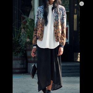 Zara Combined Floral Blazer Jacket size Medium