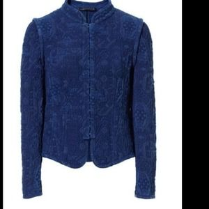 Zara Faded Jacquard Jacket size Medium