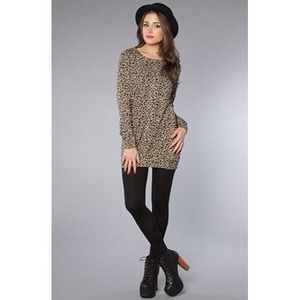 MINK PINK Animal That Can't Be Tamed Tunic Sweater