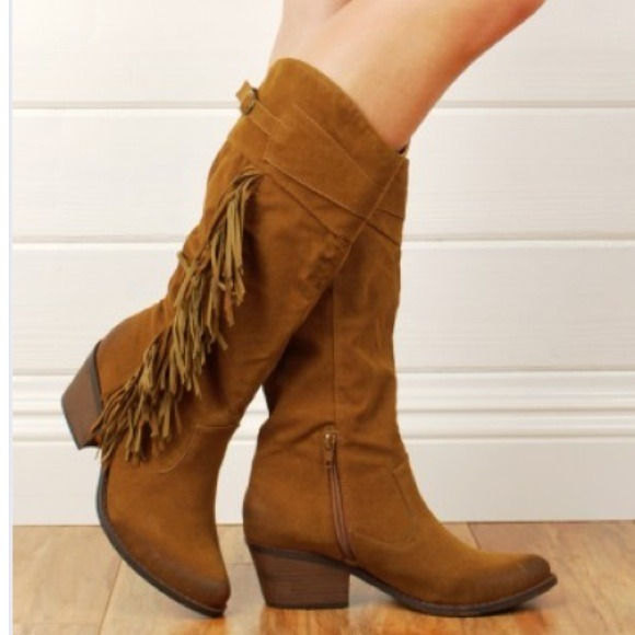Qupid - Fringe Free People Inspired Vegan Leather Boots 7 from ...