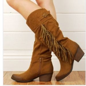 Fringe Free People Inspired Vegan Leather Boots 7