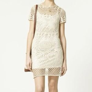 Zara Dresses & Skirts - Crochet dress