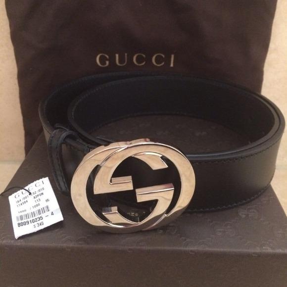 3edd20465 Gucci Accessories | Authentic Black Belt Size 9538 | Poshmark