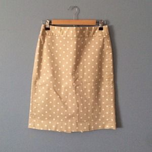 J. Crew Dresses & Skirts - Jcrew polka dot pencil skirt