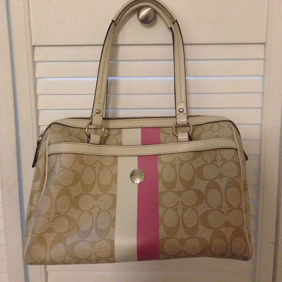 Pink And Tan Coach Purse Coach Purse Pink And Tan