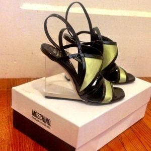 Moschino Lucite Wedges