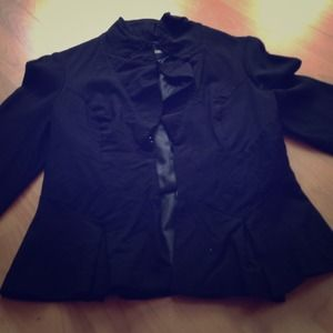 XOXO Black Fitted Blazer