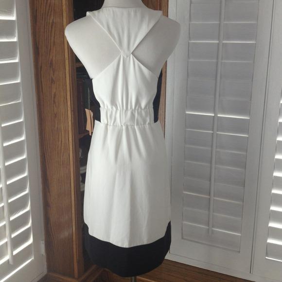 Rachel roy clothing black and white dress