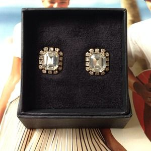 J.crew Octagon Earrings