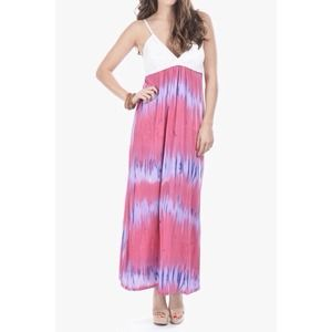 NEW Pink Tie Dye Maxi Dress