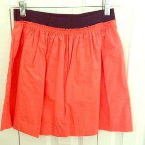 J Crew Coral and navy skirt
