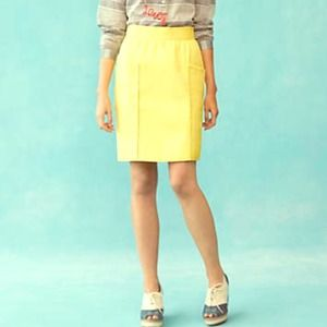 Anthro pastel Yellow skirt