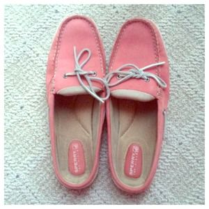 Sperry slip on mules in pink