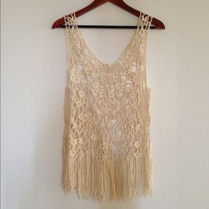 Crochet cover up top