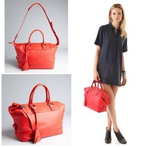"DVF Red Robin ""Drew"" Satchel"