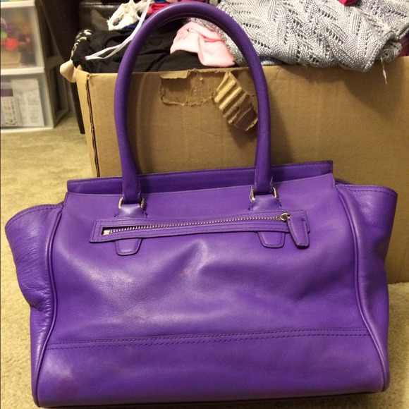 84% off Coach Handbags - Purple Leather Coach Purse! 💜👜💜 from ...