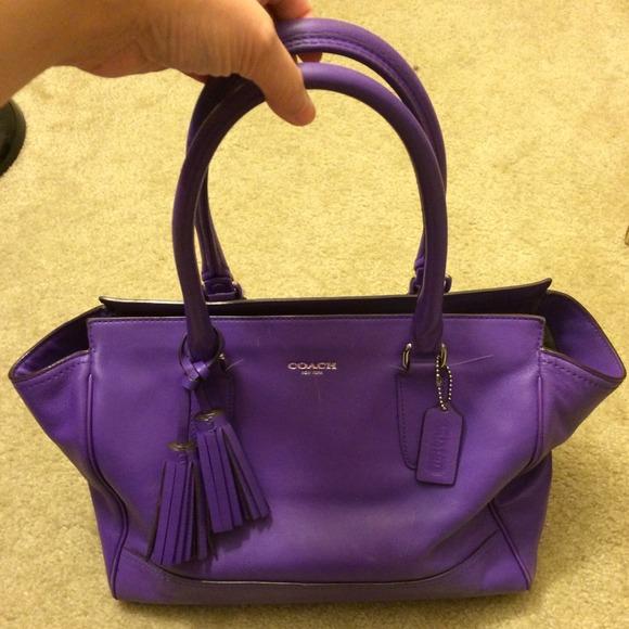 14d5b9432c6d ... aliexpress 84 off coach handbags purple leather coach purse 32293 98467