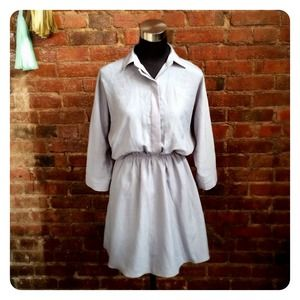 Casual Gray Shirtdress