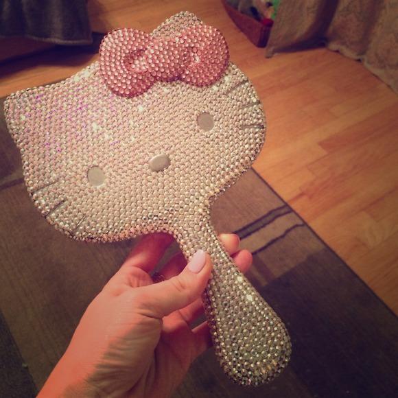 49b53b0fa Accessories   Swarovski Hello Kitty Limited Edition Hand Mirror ...