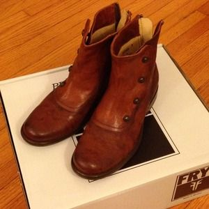 Frye Phillip Military boots with back zip