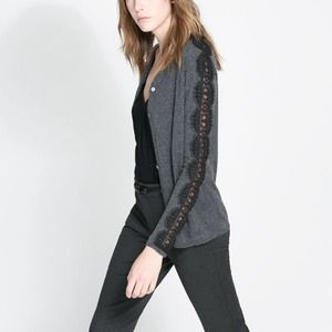 Zara Outerwear - Zara lace cardigan sweater