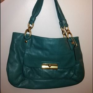 Coach Kristen leather zip top tote